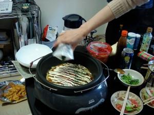 Japanese Okonomiyaki with Sauce